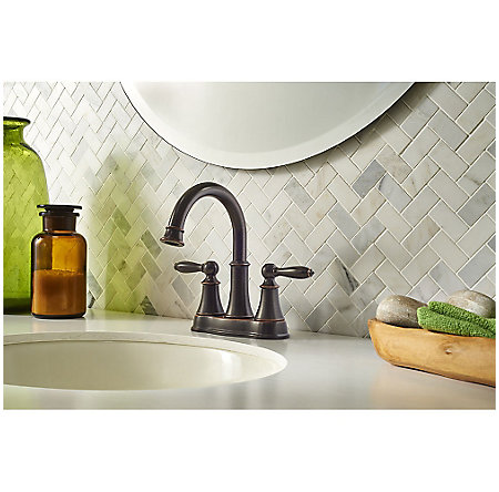 Tuscan Bronze Courant Centerset Bath Faucet - LF-048-COYY - 2