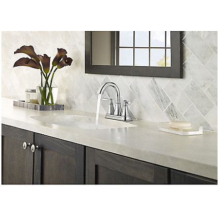 Polished Chrome Cantara Centerset Bath Faucet - LF-048-CRCC - 3