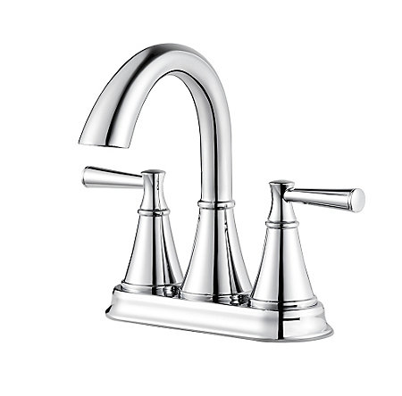 Polished Chrome Cantara Centerset Bath Faucet - LF-048-CRCC - 1