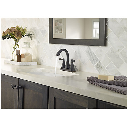Tuscan Bronze Cantara Centerset Bath Faucet - LF-048-CRYY - 3