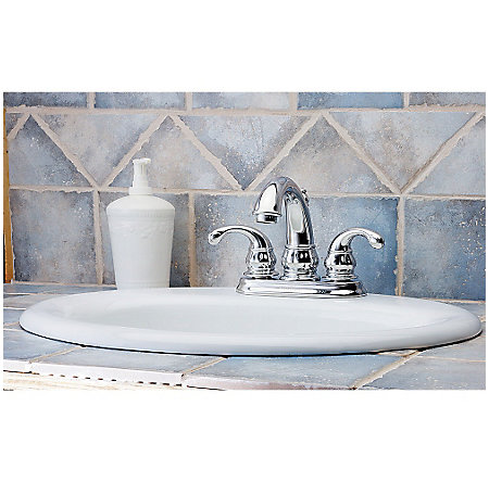 Polished Chrome Treviso Centerset Bath Faucet - LF-048-DC00 - 2