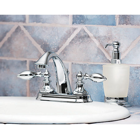 Polished Chrome Catalina Centerset Bath Faucet - LF-048-E0BC - 4