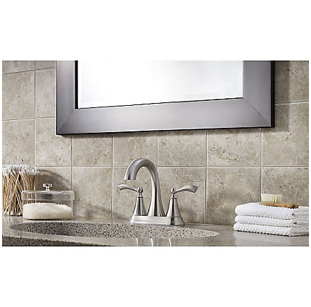 Brushed Nickel Grandeur Centerset Bath Faucet - F-548-GDKK - 4