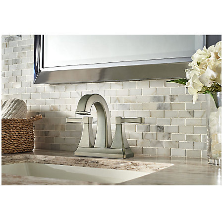 Brushed Nickel Halifax Centerset Bath Faucet - F-048-HLKK - 2