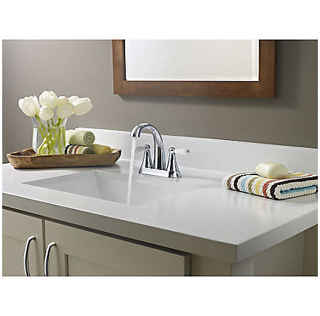 Polished Chrome Kaylon Centerset  Bath Faucet - LF-048-KYCC - 3