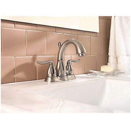 Brushed Nickel Sedona Centerset Bath Faucet - F-048-LT0K - 2