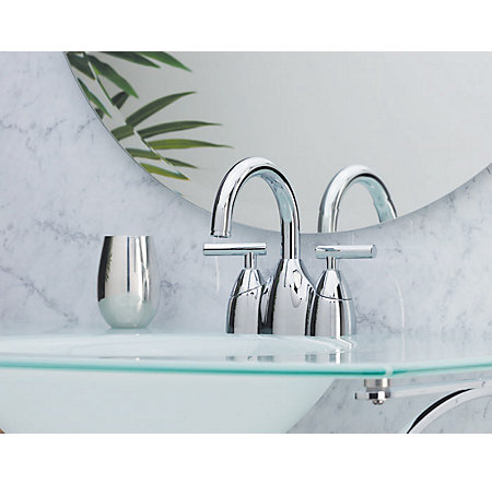 Polished Chrome Contempra Centerset Bath Faucet - LF-048-NC00 - 2