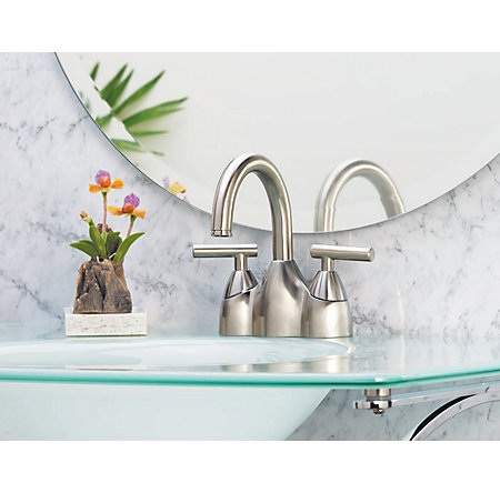 Brushed Nickel Contempra Centerset Bath Faucet - F-048-NK00 - 2