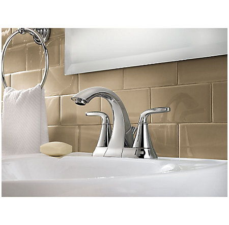Polished Chrome Pasadena Centerset Bath Faucet - F-048-PDCC - 2