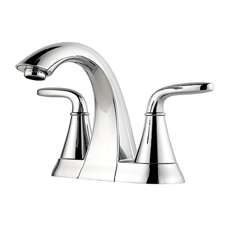 polished chrome pasadena centerset bath faucet - f-048-pdcc - 1