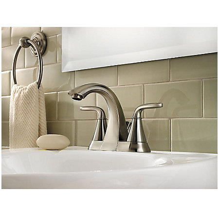 Brushed Nickel Pasadena Centerset Bath Faucet - F-048-PDKK - 2