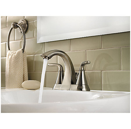 Brushed Nickel Pasadena Centerset Bath Faucet - LF-048-PDKK - 3
