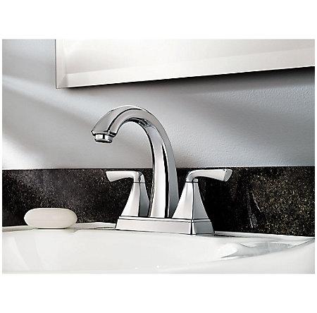 Polished Chrome Selia Centerset Bath Faucet - F-048-SLCC - 2