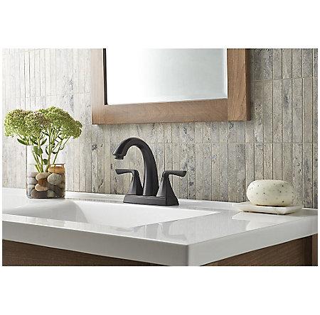 Tuscan Bronze Selia Centerset Bath Faucet - LF-048-SLYY - 2