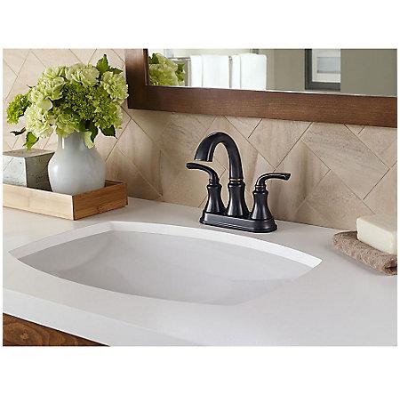 Tuscan Bronze Solita Centerset Bath Faucet - F-048-SOYY - 2
