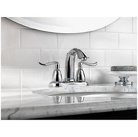 Polished Chrome Santiago Centerset Bath Faucet - F-048-ST0C - 2