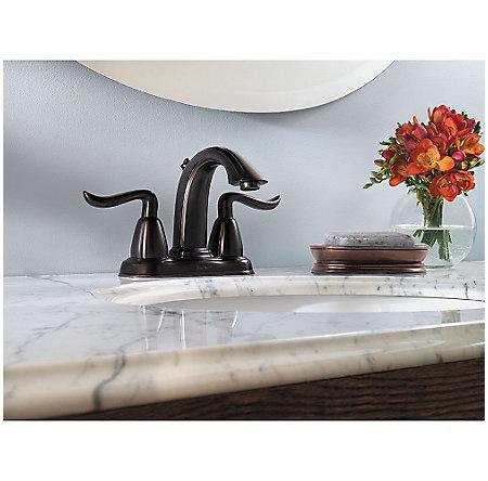 Tuscan Bronze Santiago Centerset Bath Faucet - F-M48-STYY - 2