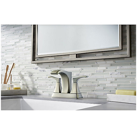 Brushed Nickel Venturi Centerset Bath Faucet - LF-048-VNKK - 2