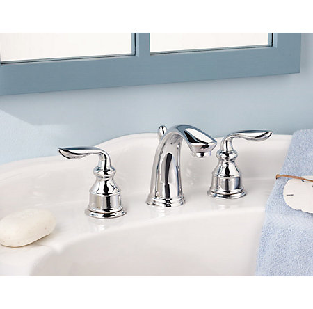 Polished Chrome Avalon Widespread Bath Faucet - LF-M49-CBCC - 3
