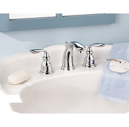 Polished Chrome Avalon Widespread Bath Faucet - LF-M49-CBCC - 4