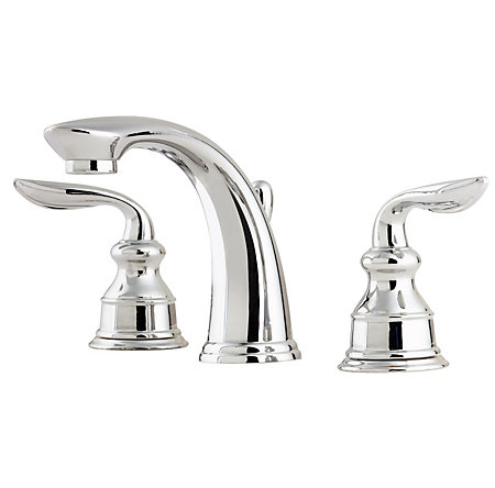 Polished Chrome Avalon Widespread Bath Faucet - LF-M49-CBCC - 1