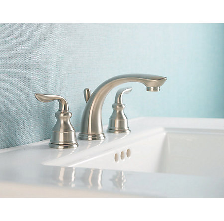 Brushed Nickel Avalon Widespread Bath Faucet - F-049-CB0K - 2