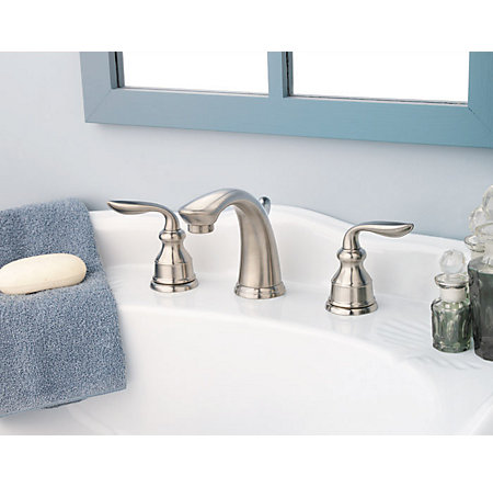 Brushed Nickel Avalon Widespread Bath Faucet - F-049-CB0K - 4