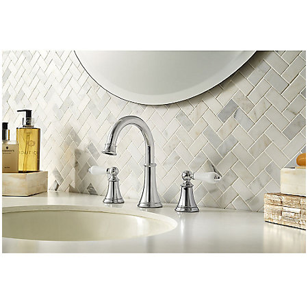 Polished Chrome Courant Widespread Bath Faucet - LF-049-COPC - 2