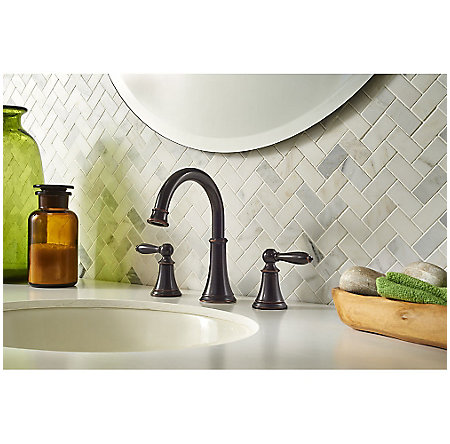 Tuscan Bronze Courant Widespread Bath Faucet - LF-049-COYY - 2