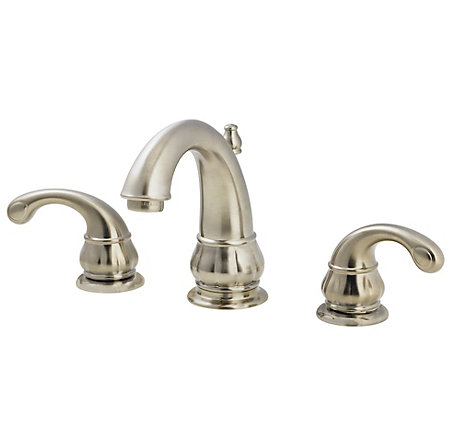 Brushed Nickel Treviso Widespread Bath Faucet - F-049-DK00 - 1