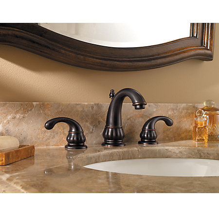 Tuscan Bronze Treviso Widespread Bath Faucet - F-049-DY00 - 1