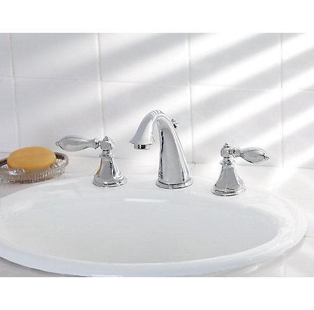 Polished Chrome Catalina Widespread Bath Faucet - LF-049-E0BC - 2