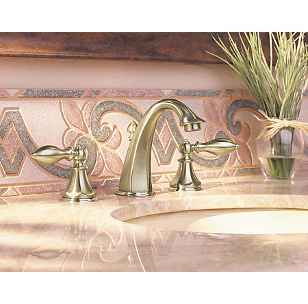 Brushed Nickel Catalina Widespread Bath Faucet - LF-049-E0BK - 2