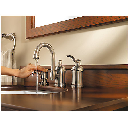 Brushed Nickel Amherst Widespread Bath Faucet - F-049-HA1K - 4