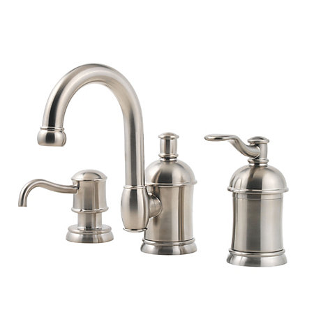 Brushed Nickel Amherst Widespread Bath Faucet - F-049-HA1K - 1