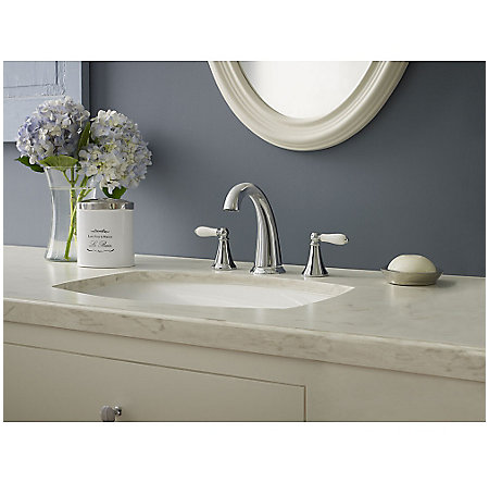 Polished Chrome Kaylon Widespread  Bath Faucet - LF-049-KYCC - 2