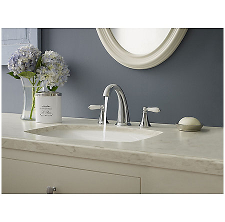 Polished Chrome Kaylon Widespread  Bath Faucet - F-049-KYCC - 3