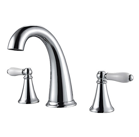 Polished Chrome Kaylon Widespread  Bath Faucet - F-049-KYCC - 1