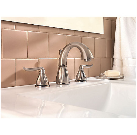 Brushed Nickel Sedona Widespread Bath Faucet - F-049-LT0K - 2