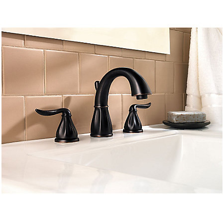 Tuscan Bronze Sedona Widespread Bath Faucet - F-049-LT0Y - 2