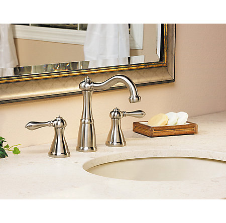 Brushed Nickel Marielle Widespread Bath Faucet - LF-049-M0BK - 2