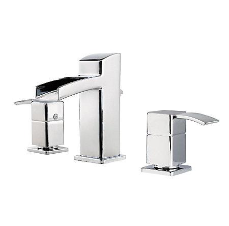 Polished Chrome Kamato Widespread Bath Faucet - F-049-MD0C - 1