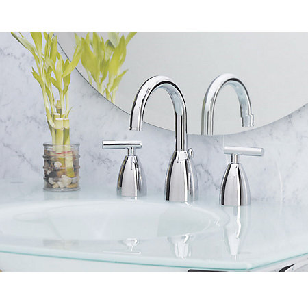 Polished Chrome Contempra Widespread Bath Faucet - F-049-NC00 - 2