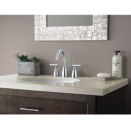 Polished Chrome Contempra Widespread Bath Faucet - LF-049-NC00 - 3