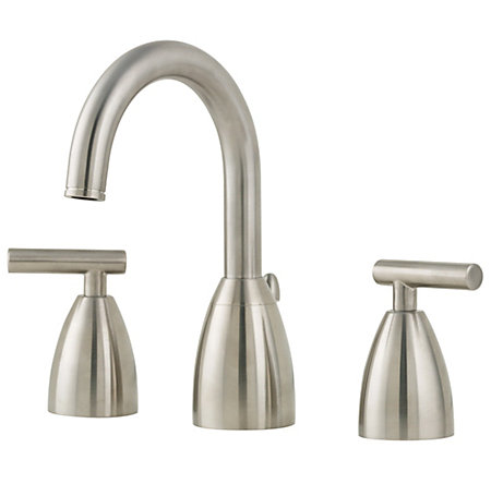 Brushed Nickel Contempra Widespread Bath Faucet - F-049-NK00 - 1