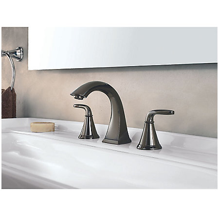 Midnight Chrome Pasadena Widespread Bath Faucet - F-049-PDMC - 2