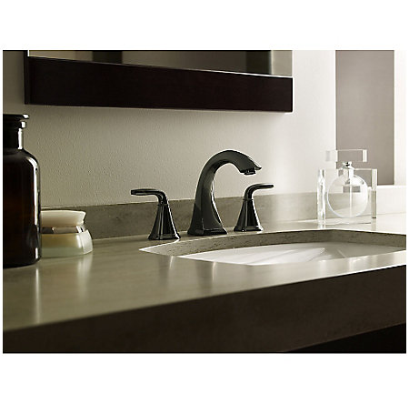 Midnight Chrome Pasadena Widespread Bath Faucet - F-049-PDMC - 3