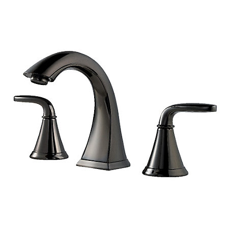 Midnight Chrome Pasadena Widespread Bath Faucet - F-049-PDMC - 1