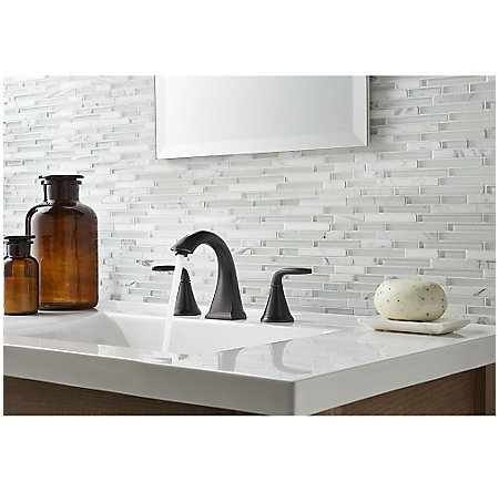 Tuscan Bronze Pasadena Widespread Bath Faucet - LF-049-PDYY - 3