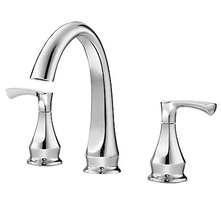 Polished Chrome Prima Widespread Bath Faucet - F-049-PMCC - 1